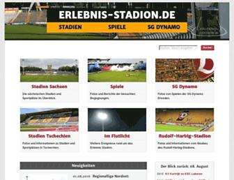 Main page screenshot of erlebnis-stadion.de