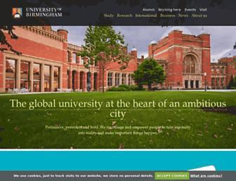 Main page screenshot of bham.ac.uk