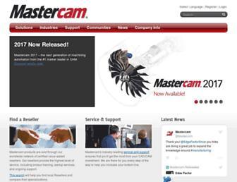 mastercam.com screenshot