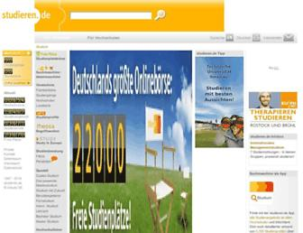 Main page screenshot of studieren.de