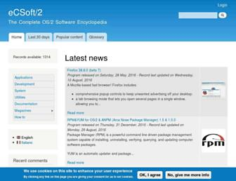 ecsoft2.org screenshot
