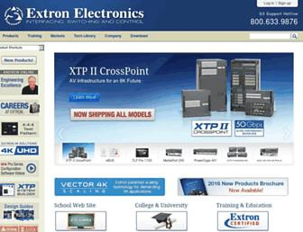 extron.com screenshot