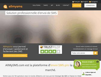 allmysms.com screenshot