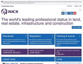 Main page screenshot of rics.org