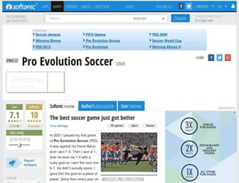 pro-evolution-soccer-2008.en.softonic.com screenshot
