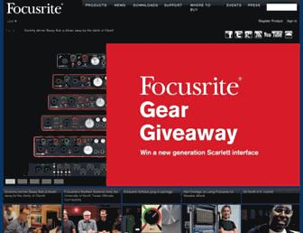 us.focusrite.com screenshot