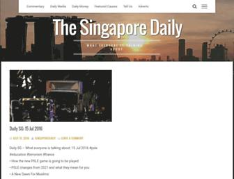 Main page screenshot of singaporedaily.net