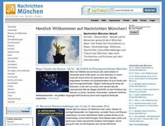 Main page screenshot of nachrichten-muenchen.de