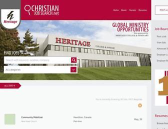 christianjobsearch.net screenshot