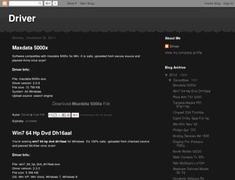 x-driver-download.blogspot.com screenshot