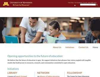 open.umn.edu screenshot