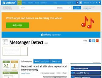 messenger-detect.en.softonic.com screenshot