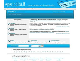 Main page screenshot of eperiodika.lt