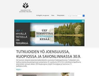 uef.fi screenshot
