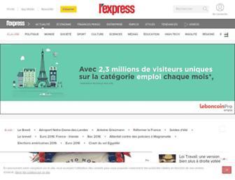 Main page screenshot of lexpress.fr