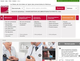 Screenshot for vidal.fr