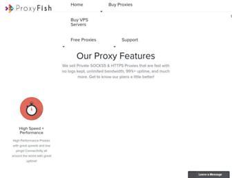 proxyfish.com screenshot