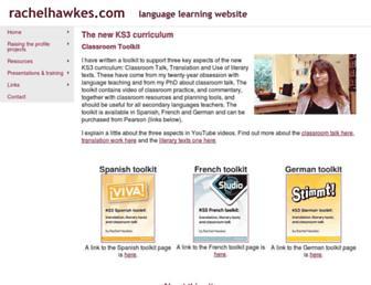 rachelhawkes.com screenshot