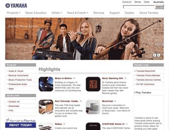 au.yamaha.com screenshot