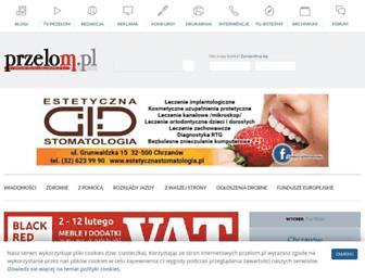 Main page screenshot of przelom.pl