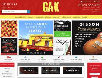 gak.co.uk screenshot