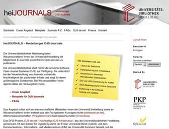 journals.ub.uni-heidelberg.de screenshot