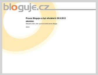 Main page screenshot of manzelka.bloguje.cz