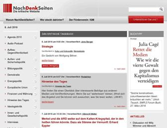 Main page screenshot of nachdenkseiten.de