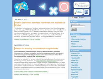 Main page screenshot of games.eun.org