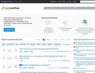 es.stackoverflow.com screenshot