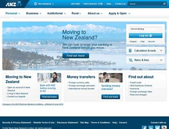 anz.co.nz screenshot