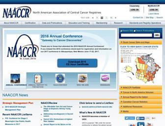 Main page screenshot of naaccr.org