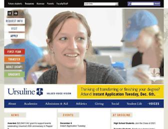 ursuline.edu screenshot