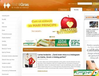 Main page screenshot of slabsaugras.ro