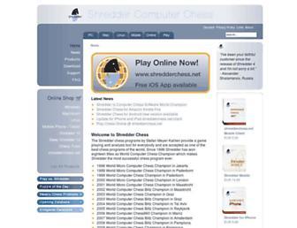 shredderchess.com screenshot