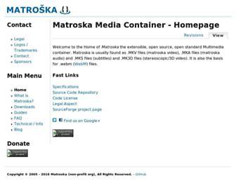 matroska.org screenshot