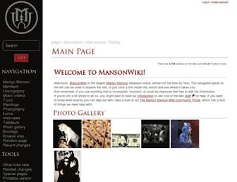 Thumbshot of Mansonwiki.com