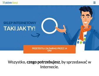 Main page screenshot of istore.pl