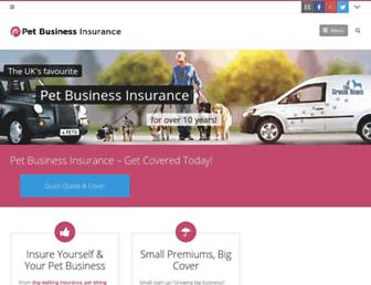 petbusinessinsurance.co.uk screenshot