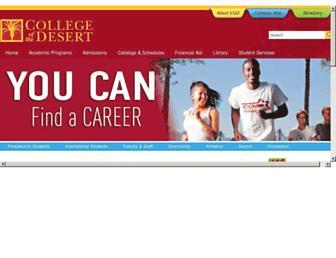 Thumbshot of Collegeofthedesert.edu
