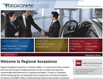 regionalacceptance.com screenshot
