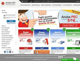 pec.it screenshot