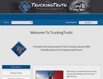 Thumbshot of Truckingtruth.com