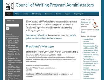 Main page screenshot of wpacouncil.org