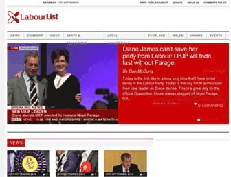 Main page screenshot of labourlist.org