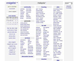 malaysia.craigslist.org screenshot
