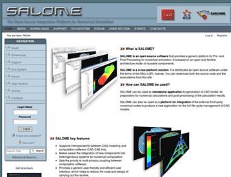 Main page screenshot of salome-platform.org