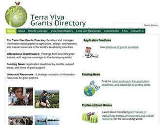Main page screenshot of terravivagrants.org
