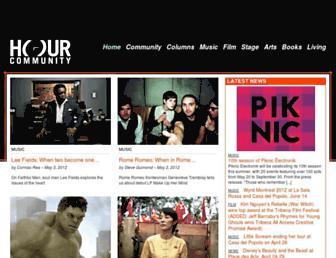 Main page screenshot of hour.ca