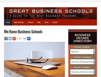 greatbusinessschools.org screenshot